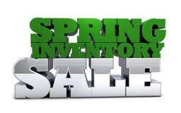Frühlings-Inventar-Verkauf Stockfotografie