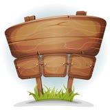 Frühlings-Land-Holz-Zeichen stock abbildung
