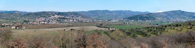 Frühlings-Landschaft in Umbrien Stockbilder
