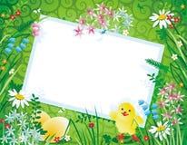 Frühlings- oder Ostern-Hintergrund Lizenzfreie Stockfotos
