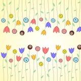 Frühlings- oder Sommerblumengrußkarte Lizenzfreie Stockbilder