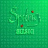 Frühlings-Saison auf einem grünen Hintergrund Vektor Abbildung