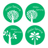 Frühlings-Saison-Ikone Lizenzfreies Stockfoto