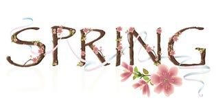 Frühlings-Text Lizenzfreies Stockfoto