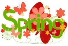 Frühlings-Text in den hellen Farben Lizenzfreie Stockfotos