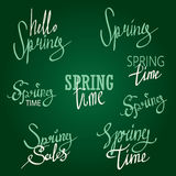 Frühlings-typografischer Design-Satz Stockfotos