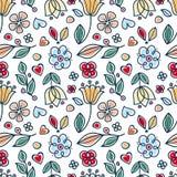 Frühlings- und Sommerfliesenverzierung Skandinavische Art Stockfoto