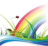 Frühlings- und Sommerpositivfahnen Stockbild