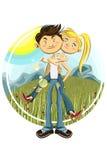 Frühlings-Valentinsgruß-Paare Stockfoto