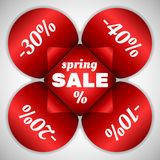 Frühlings-Verkaufsaufkleber Stockfotografie