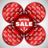 Frühlings-Verkaufsaufkleber Lizenzfreies Stockfoto