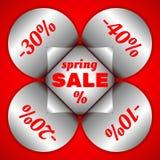 Frühlings-Verkaufsaufkleber Stockfoto
