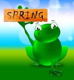 Frühlings-Zeichen zeigt Illustration der natürlichen Umwelt-3d lizenzfreie abbildung