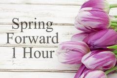 Frühlings-Zeitumstellung Stockbilder