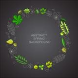 Frühlingsabstrakter Blumenhintergrund mit Platz für Ihren Text Lizenzfreie Stockfotos