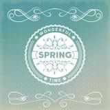 Frühlingsaltmodeaufkleber Stockbilder