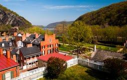 Frühlingsansicht von Harpers Fähre, West Virginia lizenzfreie stockbilder