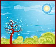 Frühlingsbaum, Vektor Stockfoto