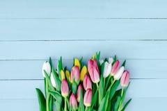 Frühlingsblumen auf dem Brett Lizenzfreie Stockfotografie