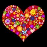 Frühlingsblumen-Valentinsgruß lizenzfreie abbildung