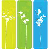 Frühlingsblumenfahnen Lizenzfreies Stockbild