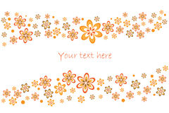 Frühlingsblumenkarte Stockfoto