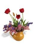 Frühlingsblumenstrauß mit Schatten Lizenzfreies Stockbild