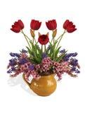 Frühlingsblumenstrauß mit Schatten Lizenzfreie Stockfotos