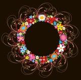 Frühlingsblumenwreath und -strudel lizenzfreie abbildung