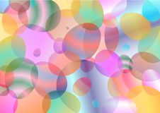 Frühlingsdekorhintergrund von farbigen Eiern stock abbildung