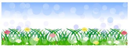 Frühlingsfahnen oder -titel Stockfotografie