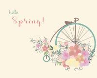 Frühlingsfahrrad Stockfotos
