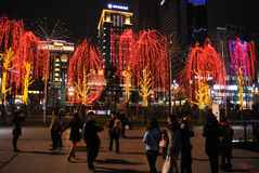 Frühlingsfest mit 2013 Chinesen in Chengdu Lizenzfreies Stockfoto