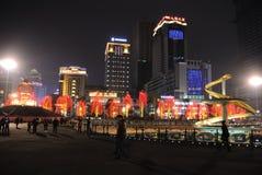 Frühlingsfest mit 2013 Chinesen in Chengdu Stockfotos
