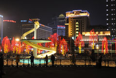 Frühlingsfest mit 2013 Chinesen in Chengdu Lizenzfreie Stockbilder