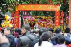 Frühlingsfestival mit 2012 Chinesen in Foshan Stockfoto