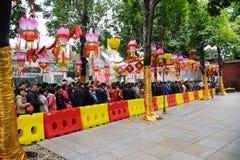Frühlingsfestival mit 2012 Chinesen in Foshan Stockbilder