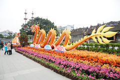Frühlingsfestival mit 2012 Chinesen in Guangzhou Lizenzfreie Stockfotografie