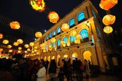 Frühlingsfestival mit 2012 Chinesen in Macau Stockbilder