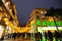 Frühlingsfestival mit 2012 Chinesen in Macau Stockbild