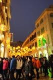 Frühlingsfestival mit 2012 Chinesen in Macau Lizenzfreies Stockbild