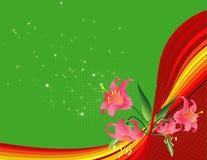 Frühlingsfluss-Blumenhintergrund Lizenzfreies Stockfoto