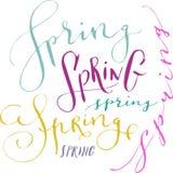 Frühlingshandschriftliches Wort Lizenzfreies Stockbild