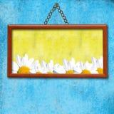 Frühlingshintergrund-Bilderrahmen mit Abbildungen von Stockfoto