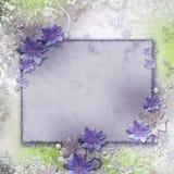 Frühlingshintergrund mit Blumen Stockfotos