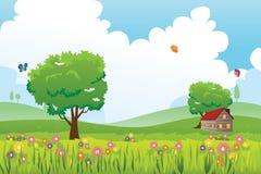 Frühlingsjahreszeit-Naturlandschaft Lizenzfreie Stockfotografie