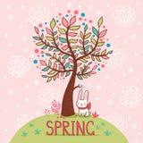 Frühlingskarte. lizenzfreie abbildung