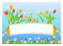 Frühlingskarte Lizenzfreie Stockfotografie