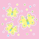 Frühlingskarte mit netten Schmetterlingen Lizenzfreies Stockfoto