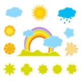 Frühlingskennsätze getrennt auf Weiß Lizenzfreie Stockfotografie